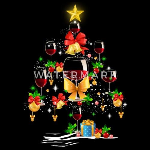 wine christmas tree tee by army2305 spreadshirt