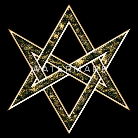 Unicursal Hexagram, Magic, Mystic, Occult, Symbol Men's