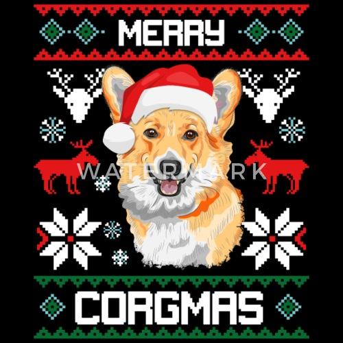merry corgmas corgi christmas ugly sweater by dr feelgood spreadshirt
