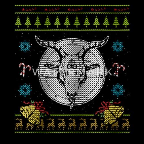 black metal christmas ugly sweater design shirt by spreadshirt - Black Metal Christmas Sweater