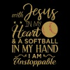 With jesus in my heart and a softball in my hand i - Men's Premium T-Shirt