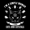 I'm a simple woman i like cats and crystals - Men's Premium T-Shirt