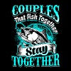 Couples that Fish Together Fishing - Men's Premium T-Shirt