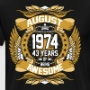 August 1974 43 Years Of Being Awesome - Men's Premium T-Shirt