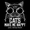 CAT - CATS MAKE ME HAPPY YOU, NOT SO MUCH - Men's Premium T-Shirt