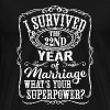 22 years Wedding - Anniversary Gift 22nd - 22 ye - Men's Premium T-Shirt