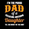 Daughter - Proud dad of an awesome daughter tee - Men's Premium T-Shirt