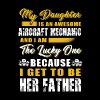 Aircraft mechanic - my daughter is an awesome Ai - Men's Premium T-Shirt