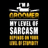 Groomer - i'm a groomer my level of sarcasm depe - Men's Premium T-Shirt