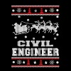 Civil engineer - Ugly Christmas Sweater - Men's Premium T-Shirt