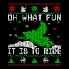 Oh What Fun Snowmobile Ugly Sweater style - Men's Premium T-Shirt