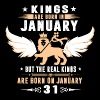 Real Kings Are Born On JANUARY 31 - Men's Premium T-Shirt