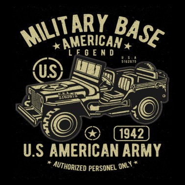 American Army Jeep - Men's Premium T-Shirt