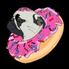 Pug Donut Strawberry Profile - Men's Premium T-Shirt