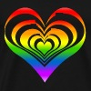 Heart Lover Rain Bow - Men's Premium T-Shirt