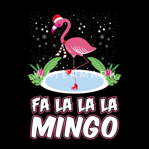 flamingo falala ugly christmas sweater gift by spreadshirt
