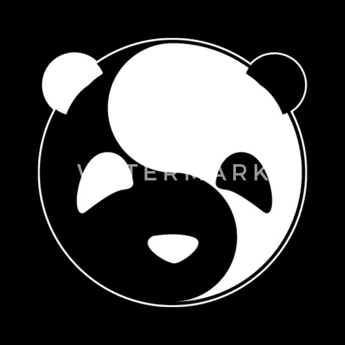 Yin Yang Panda Light Dark Balance Tai Chi Symbol By