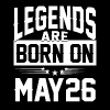 Legends are born on May 26 - Men's Premium T-Shirt
