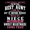 i solemnly swear to be the best aunt i can be but - Men's Premium T-Shirt