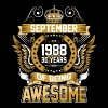September 1988 30 Years Of Being Awesome - Men's Premium T-Shirt