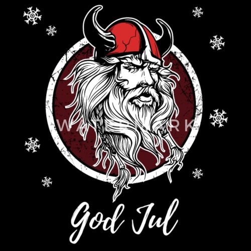 god jul merry christmas norway sweden viking gift by stearman spreadshirt - Viking Christmas