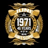 June 1971 46 Years Of Being Awesome - Men's Premium T-Shirt