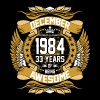 December 1984 33 Years Of Being Awesome - Men's Premium T-Shirt