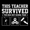 This Teacher Survived The 2016 2017 School Year - Men's Premium T-Shirt