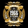 January 1966 51 Years Of Being Awesome - Men's Premium T-Shirt