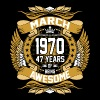 March 1970 47 Years Of Being Awesome - Men's Premium T-Shirt