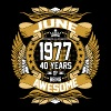June 1977 40 Years Of Being Awesome - Men's Premium T-Shirt