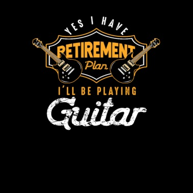 Retirement Plan-Playing Guitar - Men's Premium T-Shirt