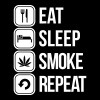 eat sleep smoke repeat - Men's Premium T-Shirt