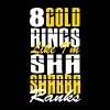 8 gold rings like I'm Sha Shabba Ranks - Men's Premium T-Shirt
