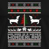 Walking In A Wiener Wonderland Christmas Sweater - Men's Premium T-Shirt