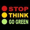 STOP - THINK - GO GREEN, 3c, eco, bio, green,  - Men's Premium T-Shirt