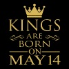 Kings are born on May 14 - Men's Premium T-Shirt