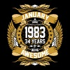 January 1983 34 Years Of Being Awesome - Men's Premium T-Shirt