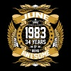 June 1983 34 Years Of Being Awesome - Men's Premium T-Shirt