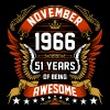 November 1966 51 Years Of Being Awesome - Men's Premium T-Shirt