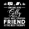 Sometimes being silly with a crazy best camping fr - Men's Premium T-Shirt
