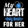 My heart only beats for her - Men's Premium T-Shirt