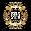 July 1975 42 Years Of Being Awesome - Men's Premium T-Shirt