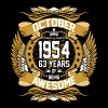 October 1954 63 Years Of Being Awesome - Men's Premium T-Shirt