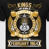 The Real Kings Are Born On February 1964 - Men's Premium T-Shirt