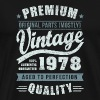Birthday 1978 Aged to perfection - Men's Premium T-Shirt