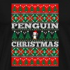 Penguin Ugly Christmas Sweater - Men's Premium T-Shirt
