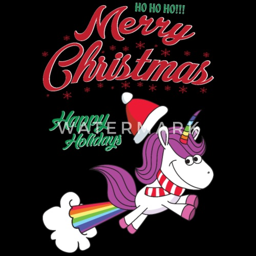 funny santa claus xmas merry christmas unicorn by for more designs click here spreadshirt - Christmas Unicorn