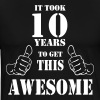 10th Birthday Get Awesome T Shirt Made in 2007 - Men's Premium T-Shirt