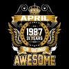 April 1987 31 Years Of Being Awesome - Men's Premium T-Shirt